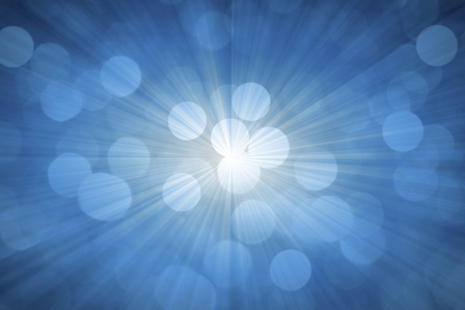 image of pulsing blue light