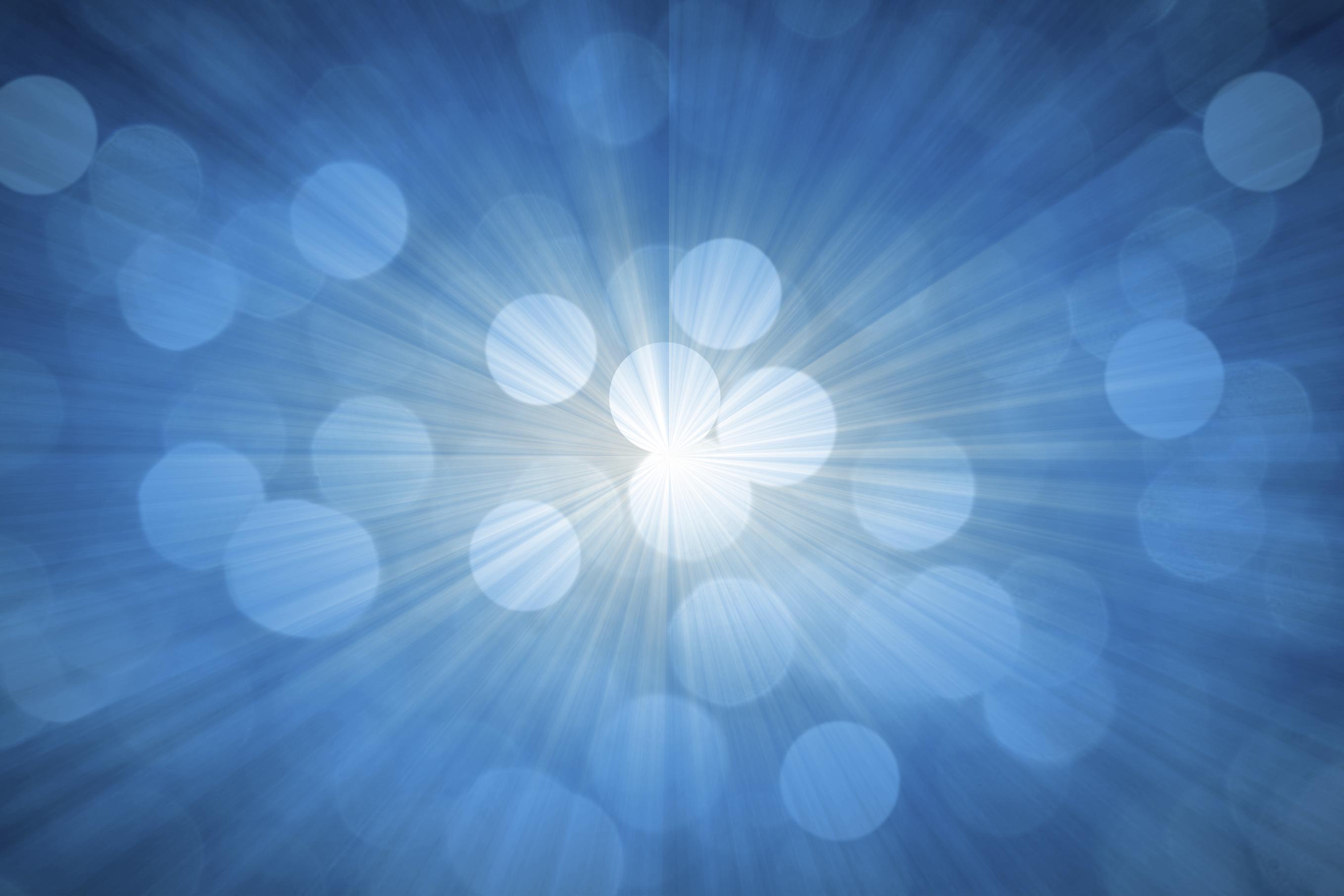 image of pulsing blue light