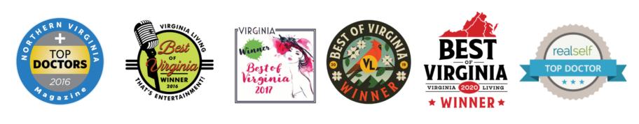 Virginia Award-Winning Badges for Dr. Nicole Hayre